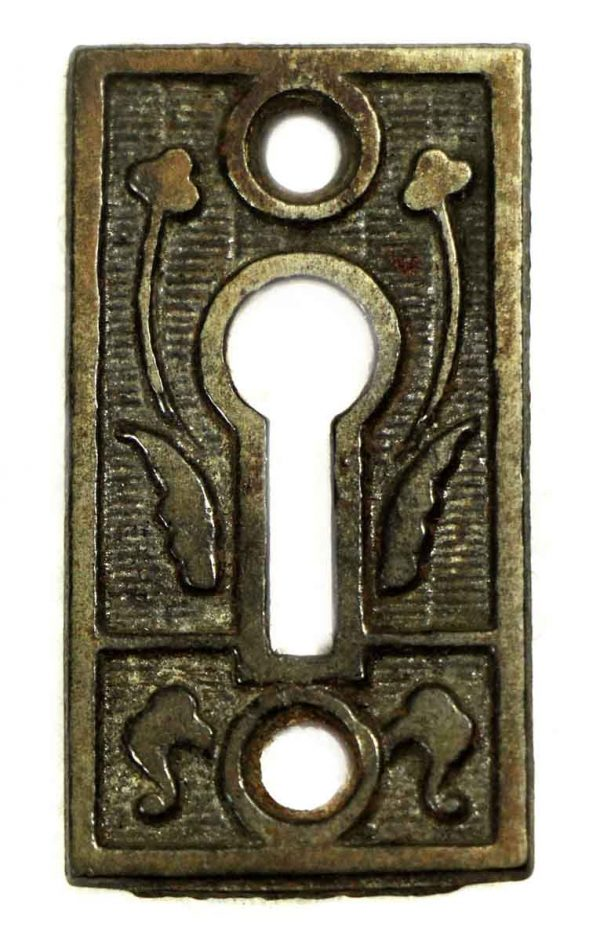 Keyhole Covers - Antique Ornate Iron Keyhole Cover
