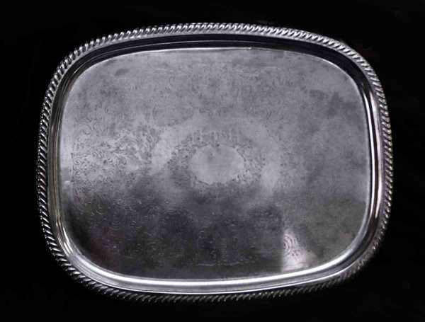 Kitchen - Salvaged Waldorf 18 in. Ornate Rectangular Serving Tray
