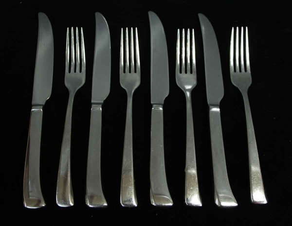 Kitchen - Salvaged Waldorf 8 Piece Dinner Fork & Knife Set