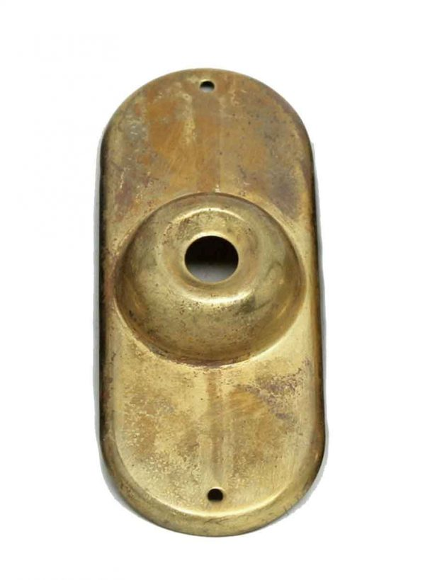 Knockers & Door Bells - Old New Plain Brass Doorbell Plate