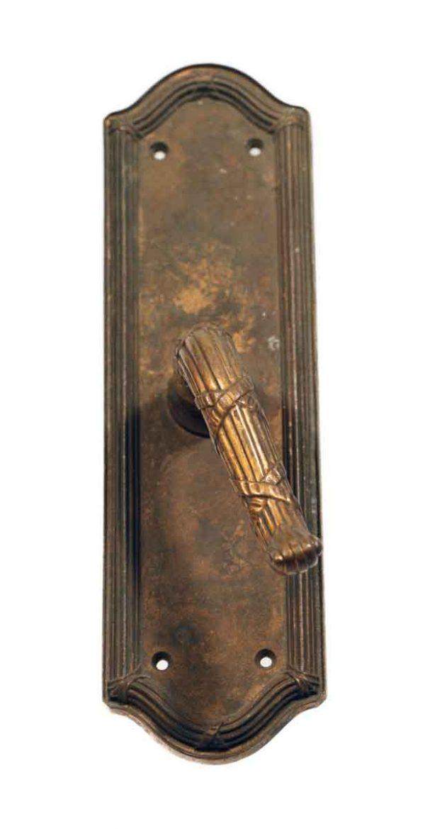 Levers - Art Deco Bronze Door Pull Lever