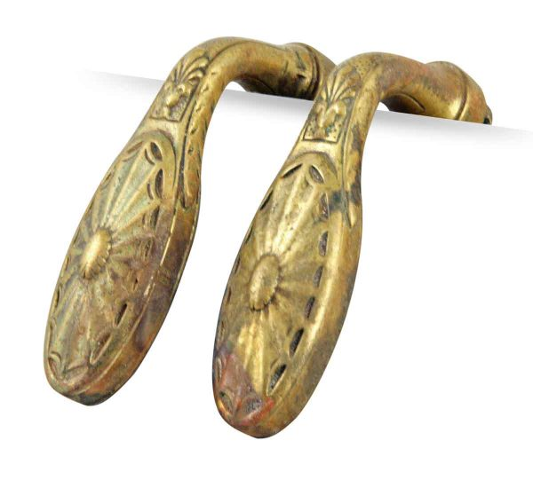 Levers - Brass Lever Door Knob with Web Pattern