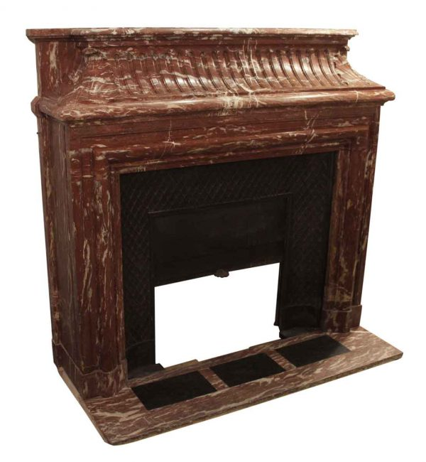Mantels - Cherry Red Morello Marble Mantel from The Gloria Vanderbilt Mansion