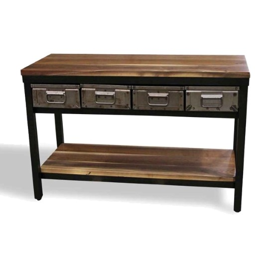 2. Walnut Console Table With Four Steel Drawers U2013 Custom Sizes U0026 Other Wood  U0026 Stain Options Are Available. Please Allow 6 8 Weeks For Completion.