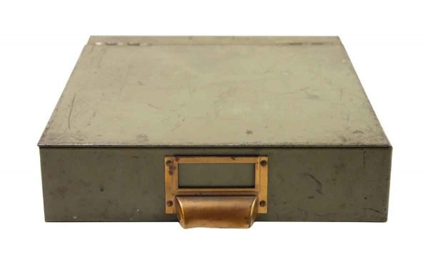 Office Furniture - Vintage Green Metal File Box