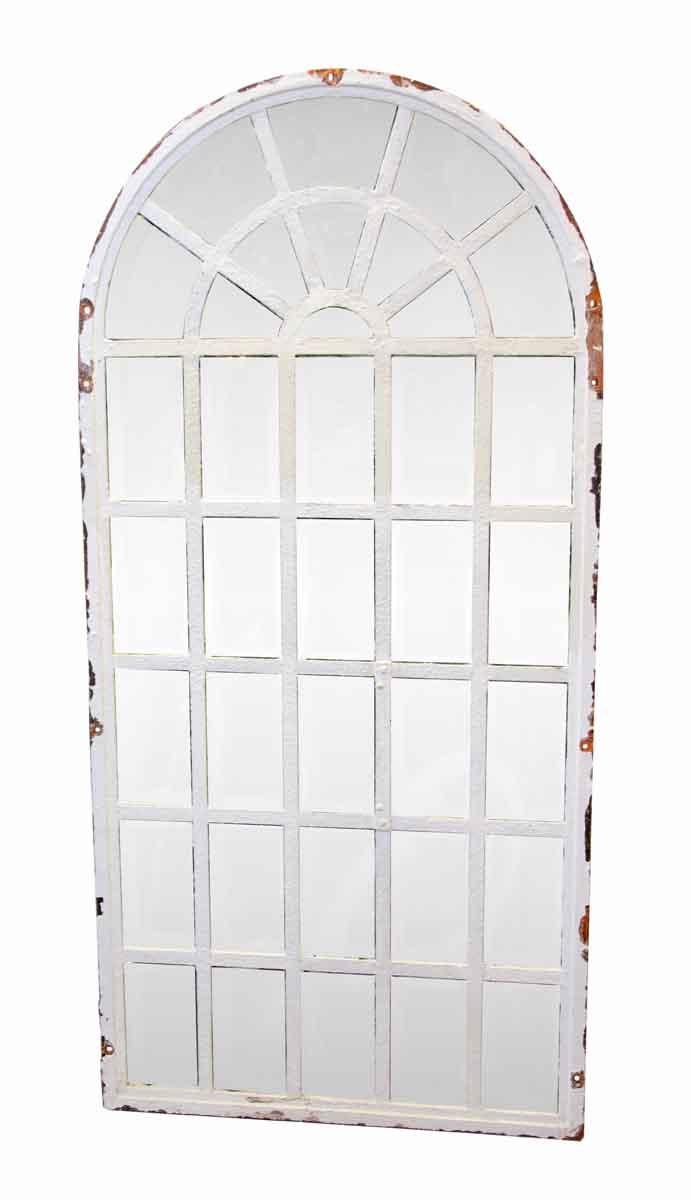 Steel Frame Palladium Arched Chicken Wire Windows | Olde Good Things