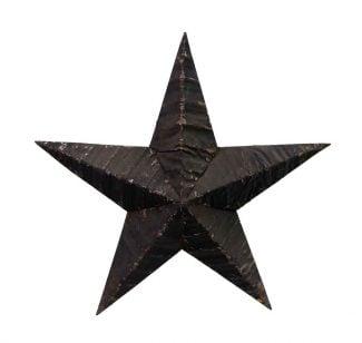 Black Handmade Amish Tin Star