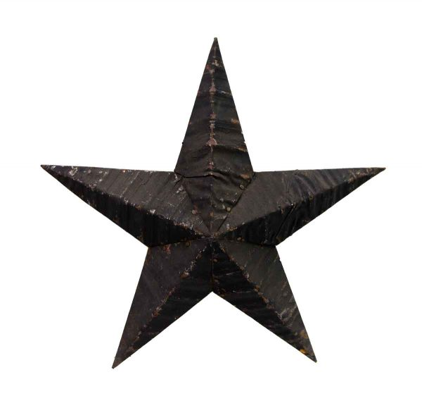 Tin Creations - Black Handmade Amish Tin Star