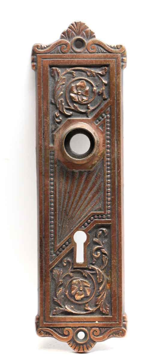 Back Plates - Antique Branford Corinthian Bronze Door Back Plate