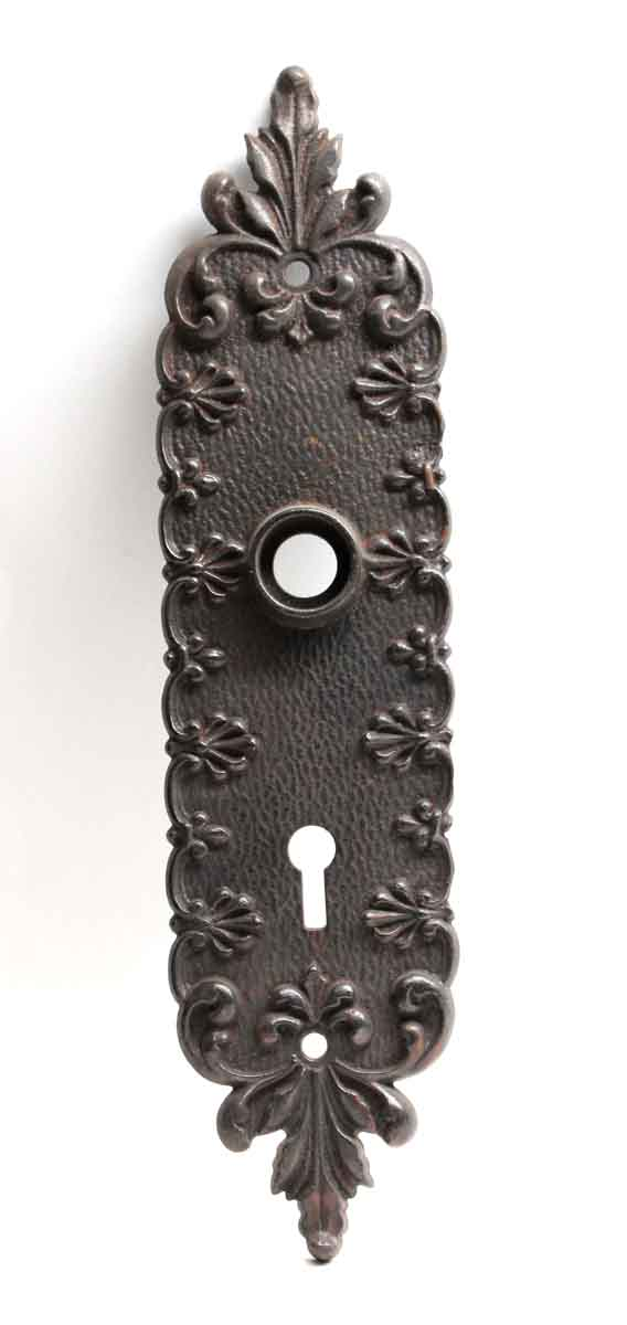Back Plates - Antique Cast Iron Victorian Door Back Plate