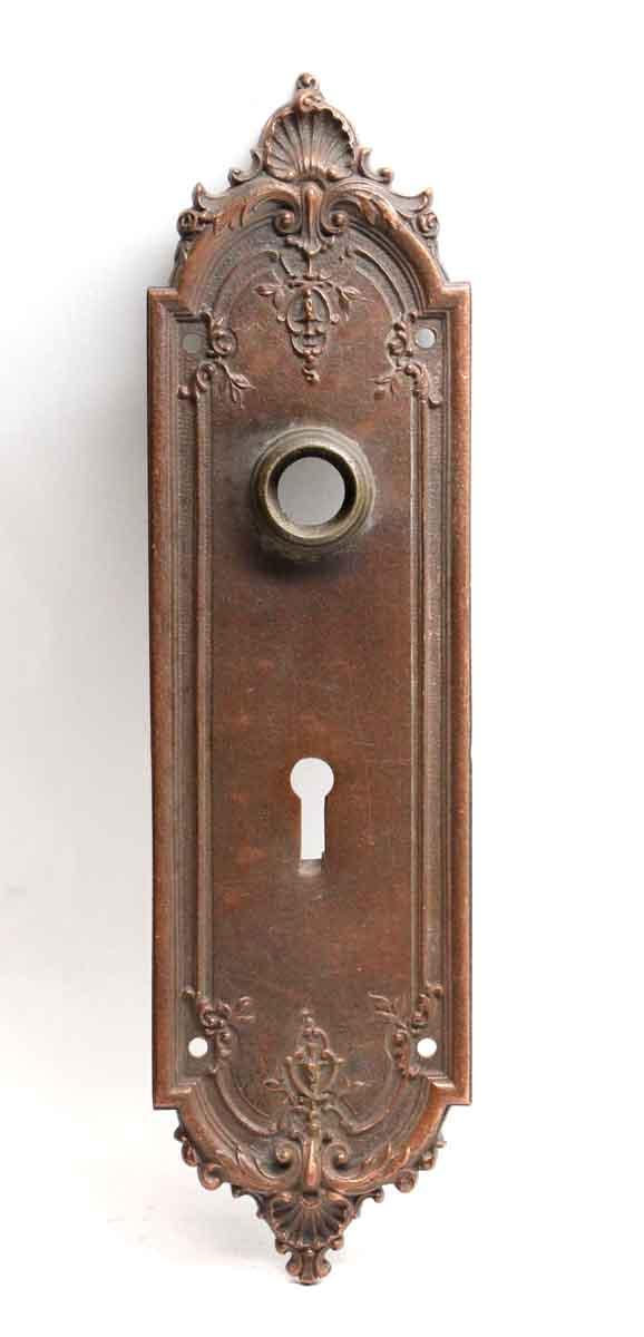 Back Plates - Antique Sargent French Bronze Door Back Plate