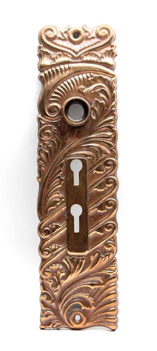 Back Plates - Double Keyhole Pressed Brass Roanoke Door Back Plate