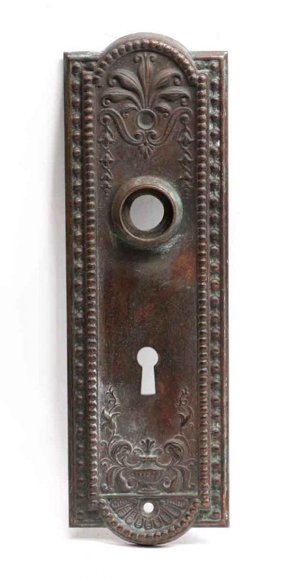 Back Plates - French Regency Pressed Bronze Door Back Plate