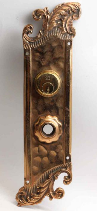 Gilded Art Nouveau Reading Back Plate & Antique Door Hardware | Olde Good Things