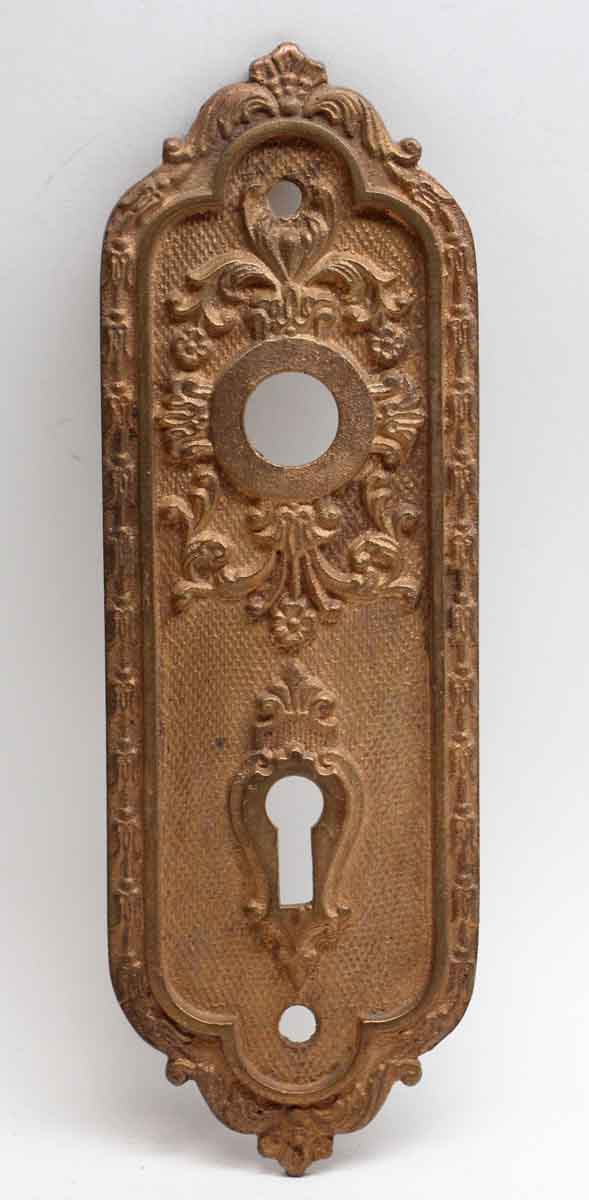 Back Plates - Highly Ornate Brass Back Plates with Keyhole