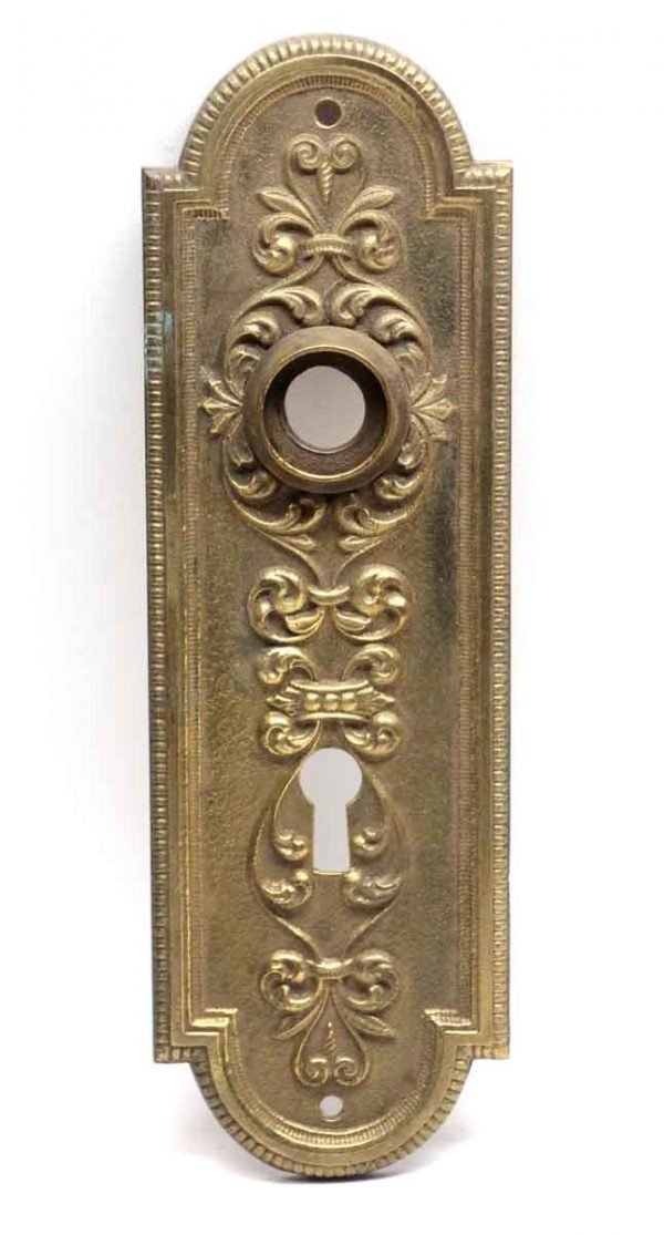 Back Plates - Victorian Brass Back Plate with Keyhole