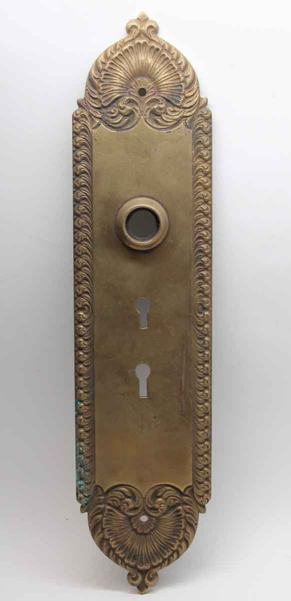Back Plates - Victorian Brass Double Keyhole Back Plate