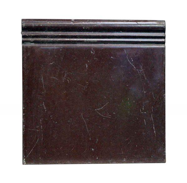 Bull Nose & Cap Tiles - Plain Brown Wall Baseboard Tile