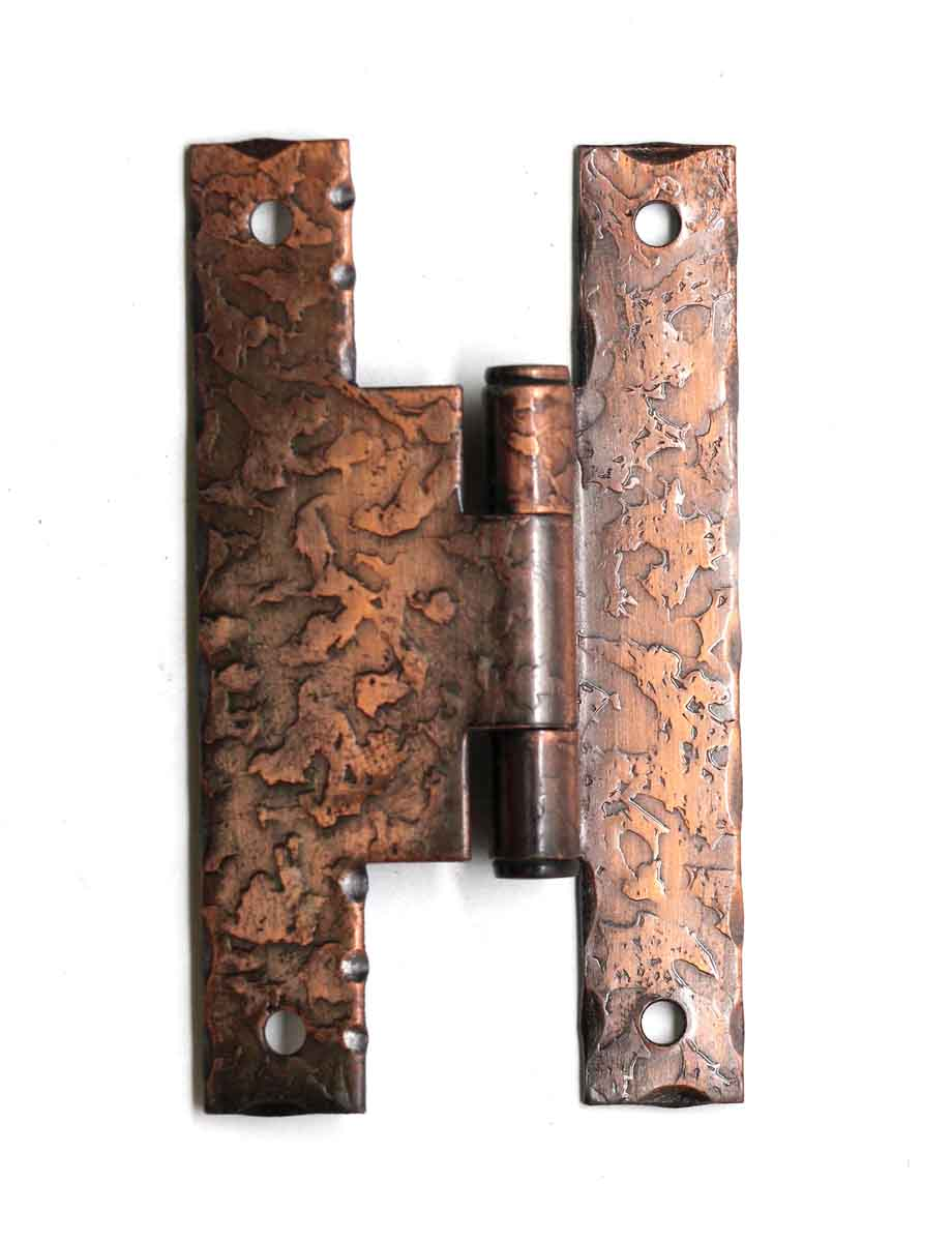 Cabinet Furniture Hinges Copper Plated Textured Iron Hinge
