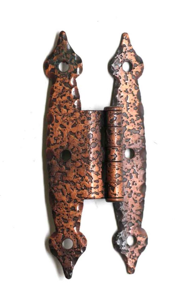 Cabinet & Furniture Hinges - Hammered Copper Iron Cabinet Hinge