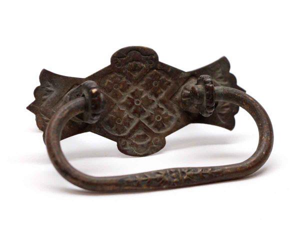 Cabinet & Furniture Pulls - Dark Brass Floral Drawer Pull