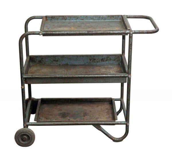 Carts - European Metal Industrial Bar Cart