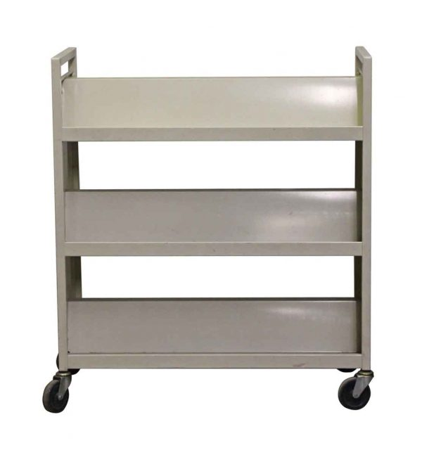 Carts - Metal Three Tier Rolling Library Cart