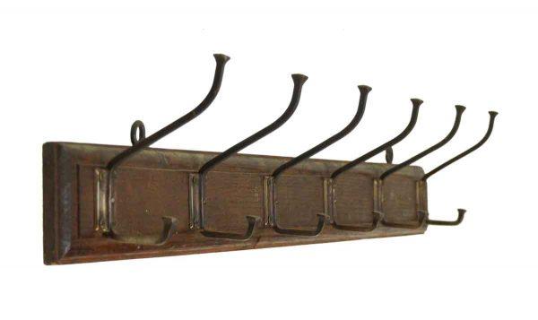 Coat Racks - European 6 Brass Hook Plank