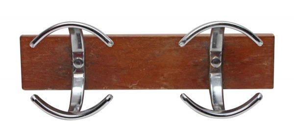 Coat Racks - European Chrome Double Hook Plank