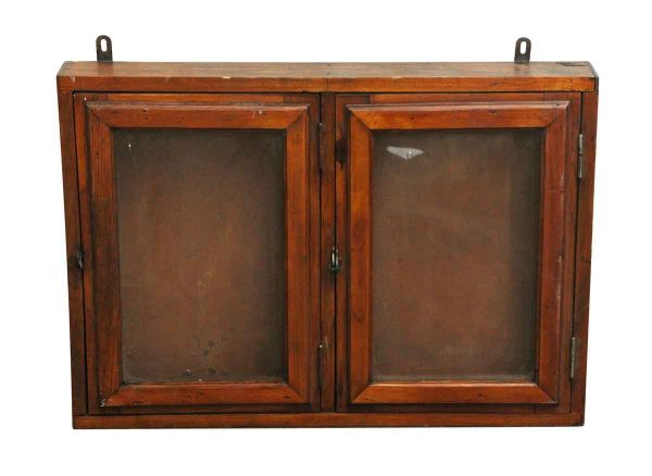 Commercial Furniture - European Two Door Oak Wall Display Case
