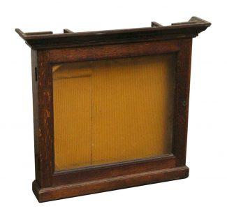 Vintage European Oak Display Case