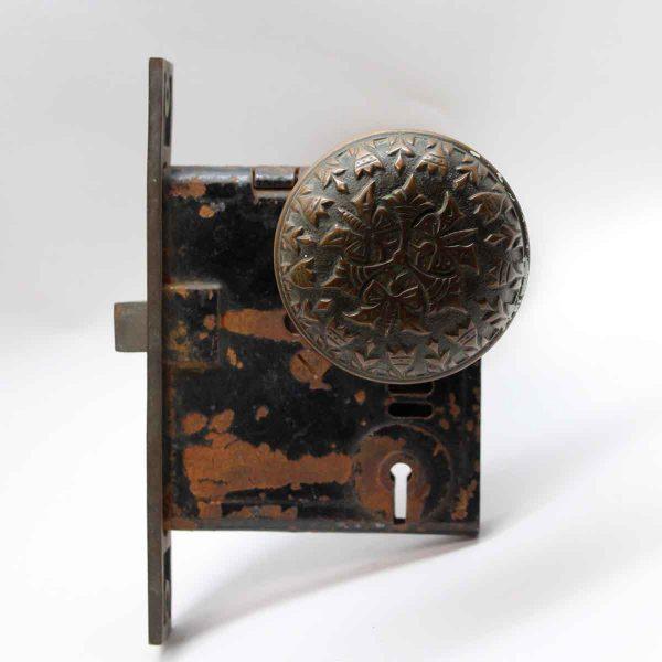 Door Knob Sets - Antique Bronze Norwalk Vernacular Door Knob Set