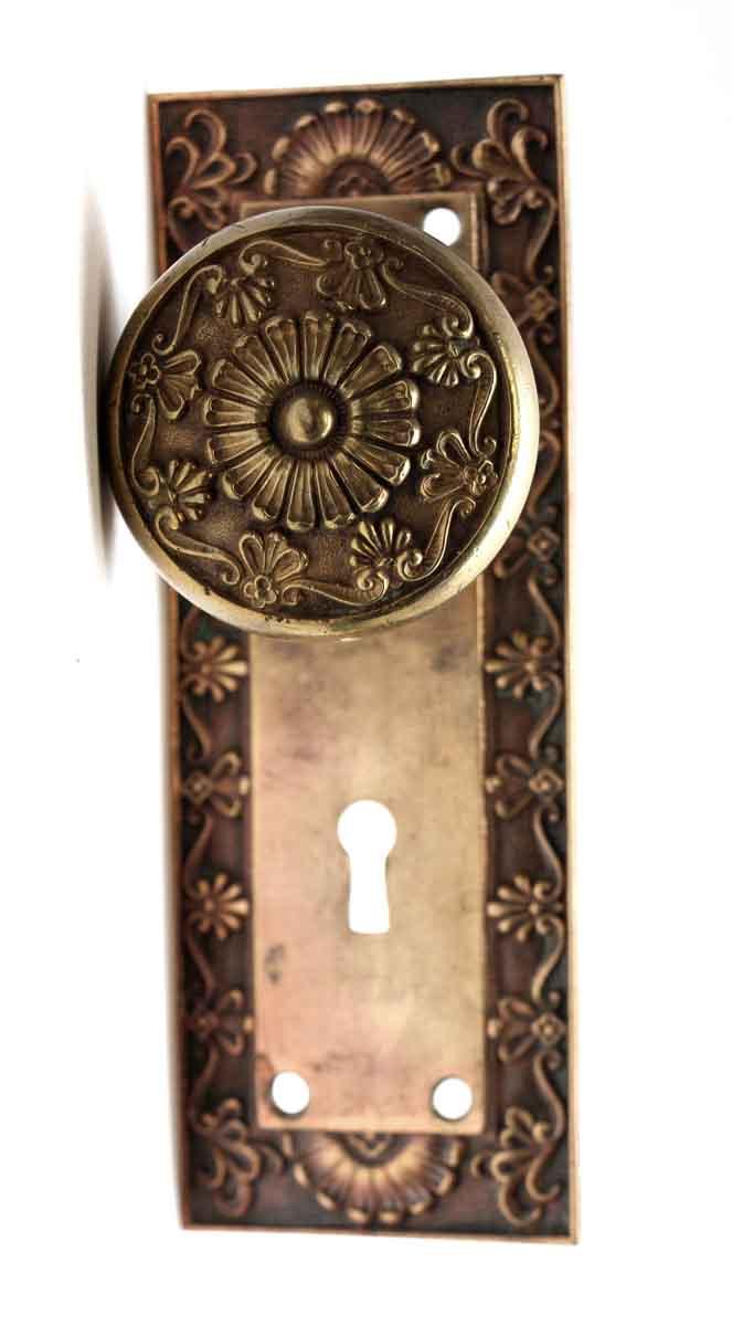 Door Knob Sets   Antique Corbin Bronze Parthenon Greek Door Knob Set