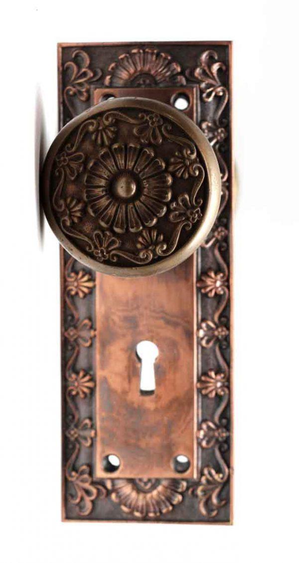 Door Knob Sets - Greek Copper Plated Corbin Door Knob Set