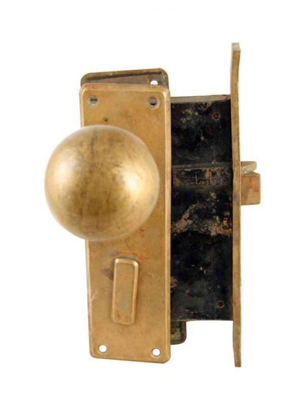 Door Knob Sets - Heavy Bronze Spherical Door Knob Set