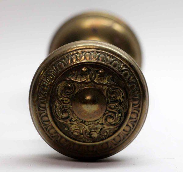 Door Knob Sets - Pair of Brass Corbin Door Knobs with Rosette