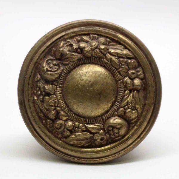 Door Knobs - Antique Asymmetrical Brass Door Knob