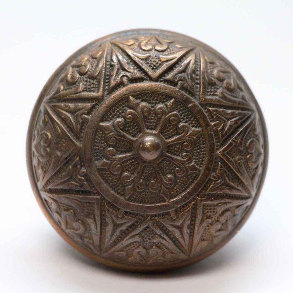 Door Knobs - Antique Branford Grecian Bronze Door Knob