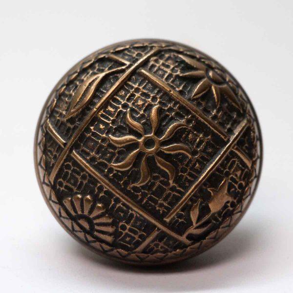 Door Knobs - Antique Bronze Kenton Four Fold Door Knob