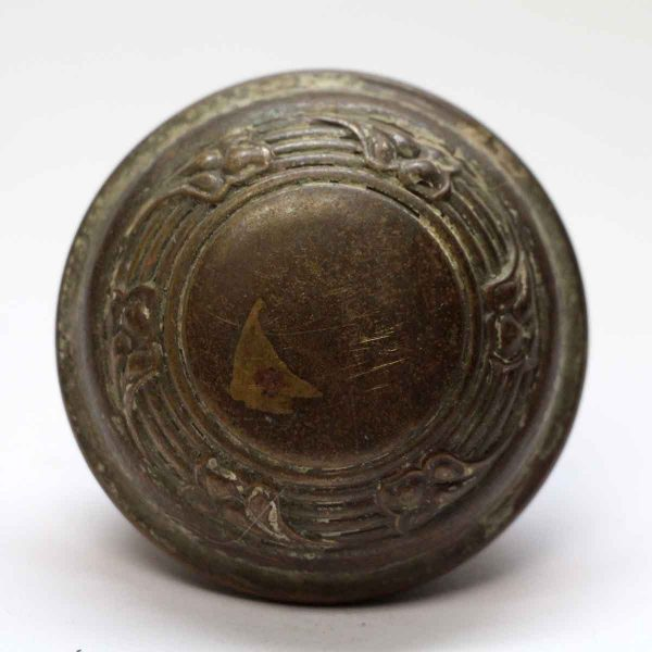 Door Knobs - Antique Concentric Bronze Floral Door Knob