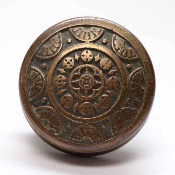 Door Knobs - Antique Schroder 8 Fold Bronze Door Knob