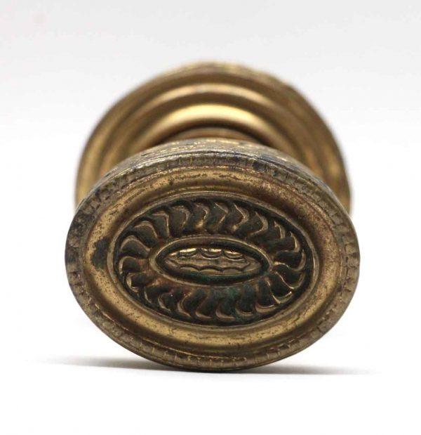 Door Knobs - Brass Oval Door Knob with Matching Rosette