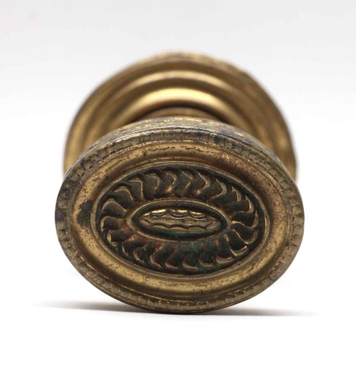 Door Knobs   Brass Oval Door Knob With Matching Rosette