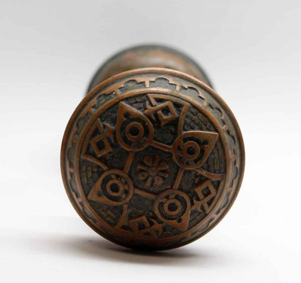 Door Knobs - Bronze Vernacular Door Knob Set with Matching Rosette