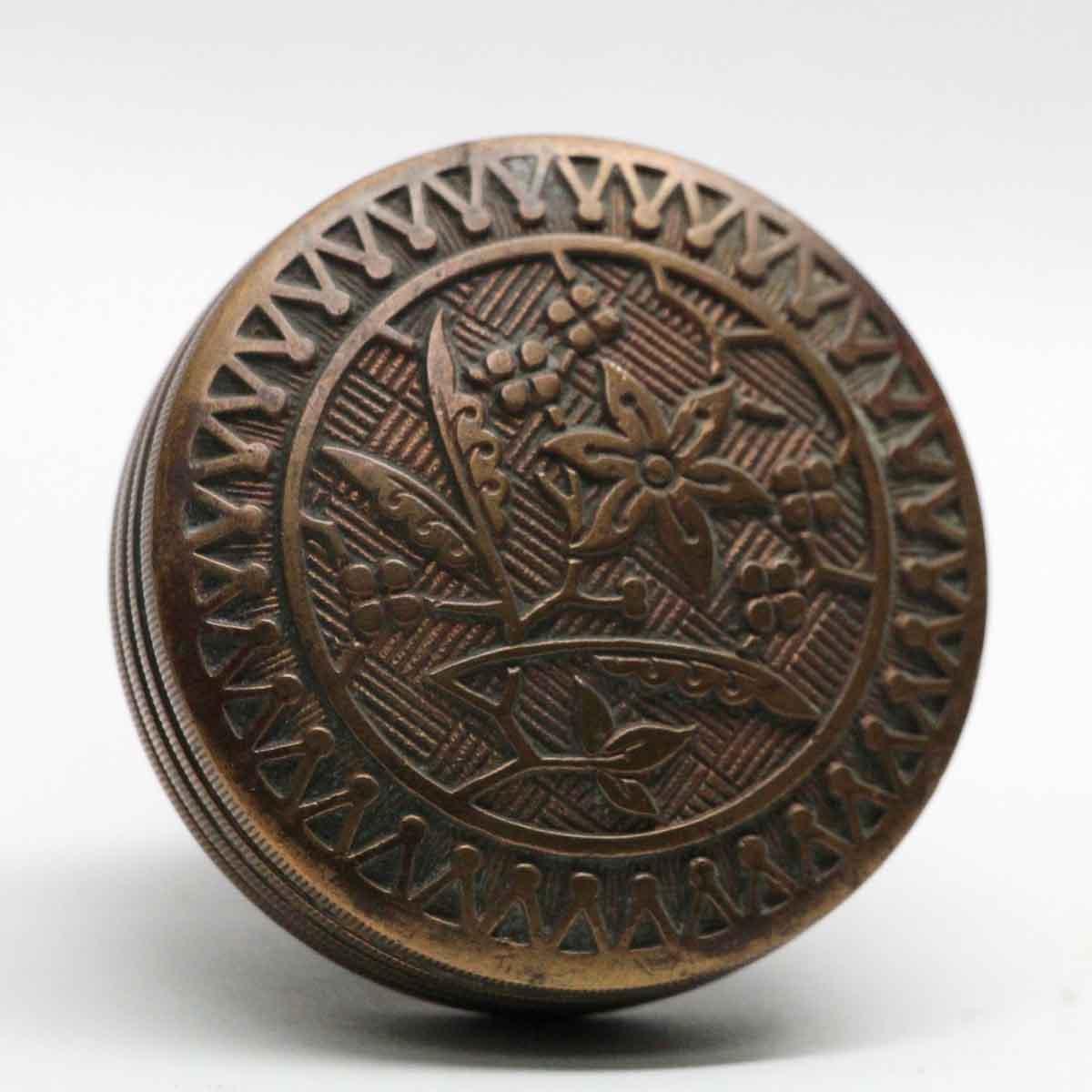 Antique Bronze Asymmetrical Sargent Door Knobs | Olde Good Things