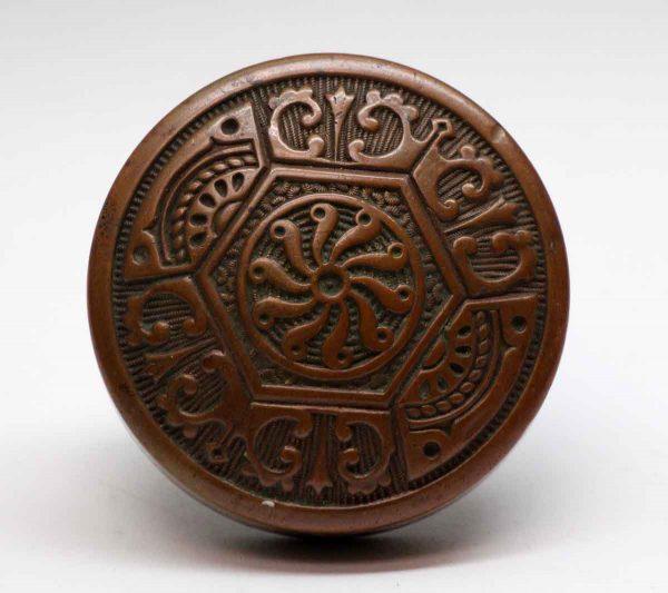 Door Knobs - Hollow Bronze Two Fold Vernacular Door Knob