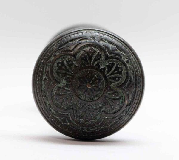 Door Knobs - Pair of Black Patina Vernacular Bronze Corbin Door Knobs