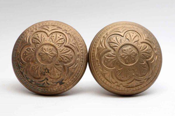 Door Knobs - Pair of Bronze Corbin Vernacular Door Knobs