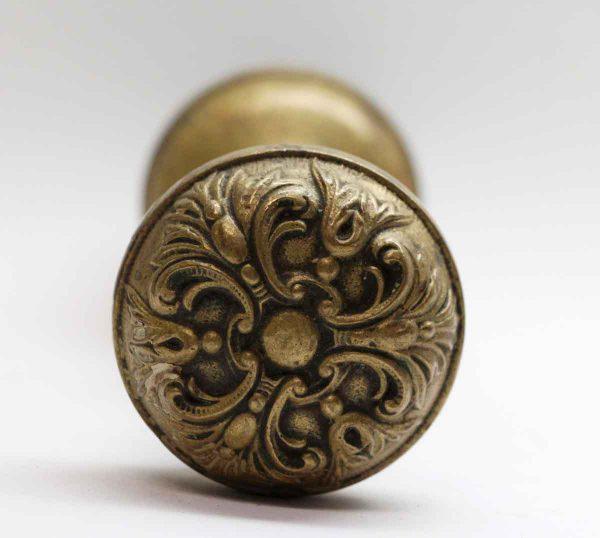 Door Knobs - Pair of Cast Brass German Renaissance Barrows Door Knobs