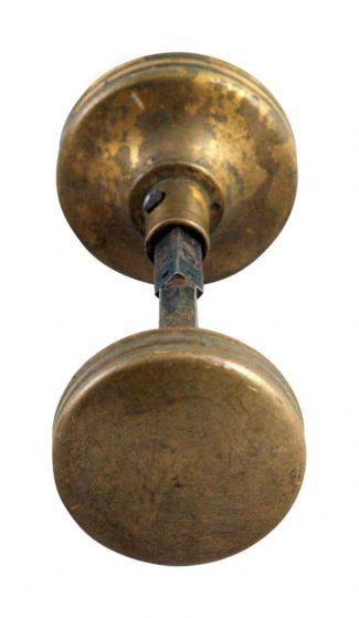 Antique glass door knobs Pretty Door Simple Brass Ridge Sided Door Knob Set Olde Good Things Vintage Antique Door Knobs Olde Good Things